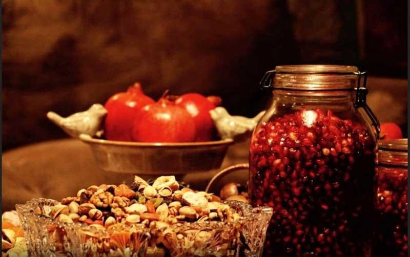 Yalda Night pomegranate and nuts