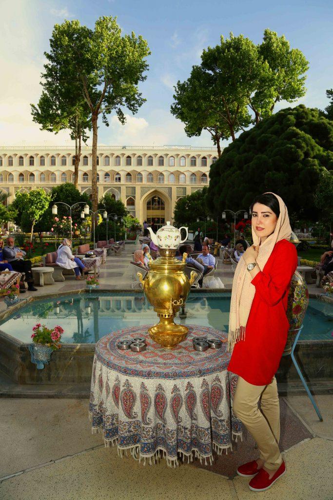 Abbasi Hotel open-air courtyard
