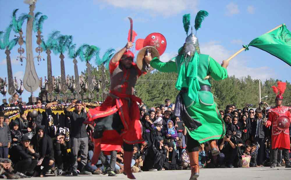 Religious performance called Tazieh at the time of Ashura in Iran