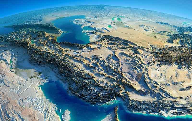 Iran Map topography